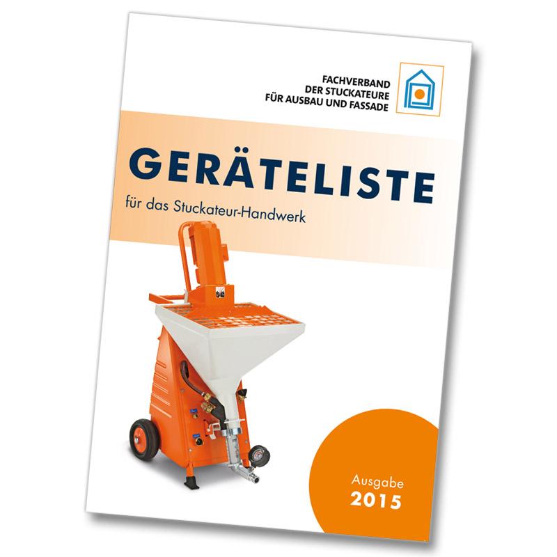 Broschüre-Geräteliste-2015-2.-Auflage Ausbau und Fassade - Werkzeug, Arbeitsmittel